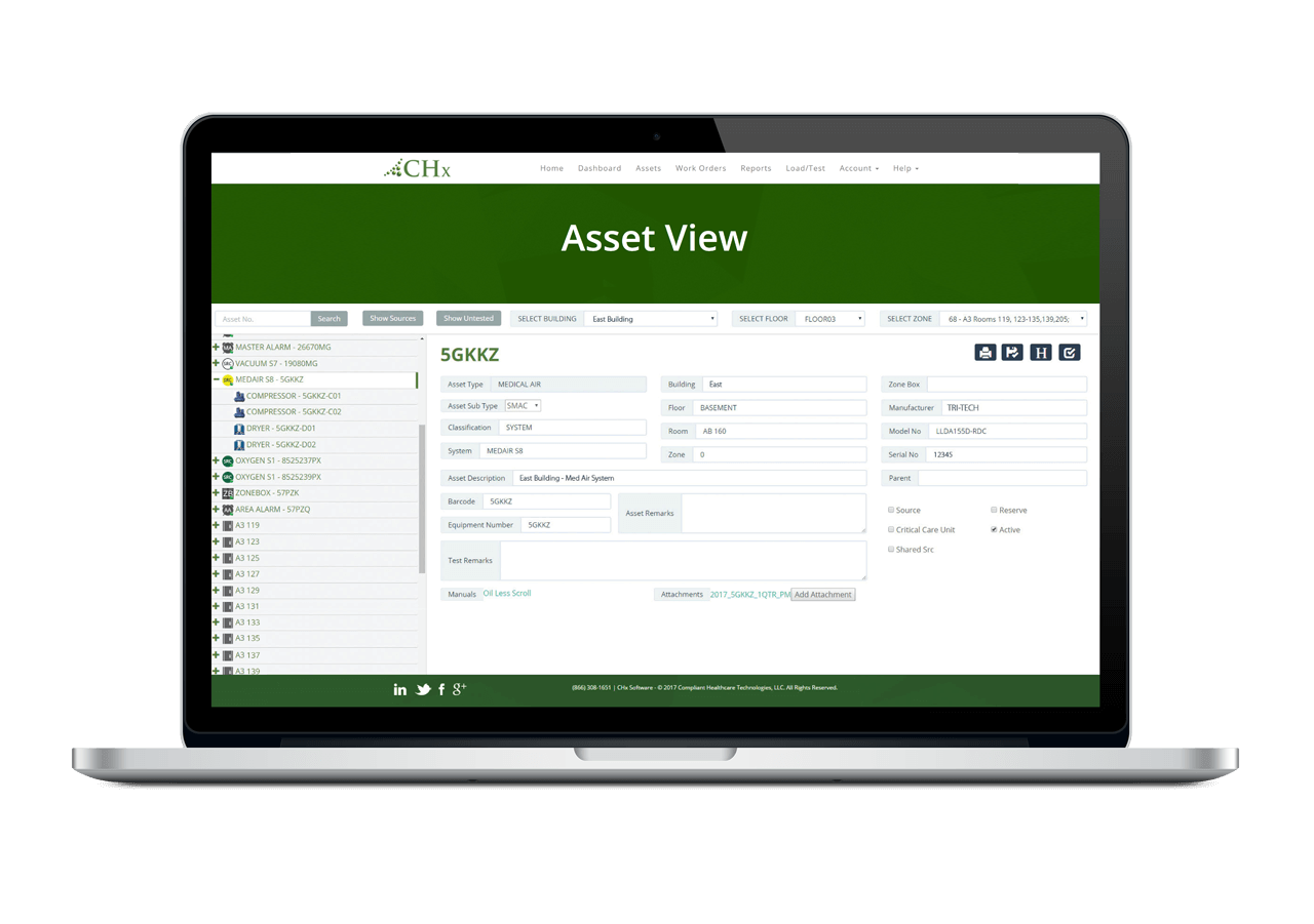 CHx Asset View